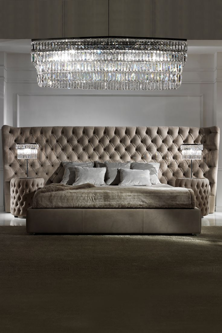 Made by the finest Italian furniture makers. The striking dimensions of the headboard provide a grand addition to any interior design. Adding the ultimate in style and glamour. The Button Upholstered Leather Italian Bed with Extended Headboard at Juliette's Interiors is a true statement addition to any bedroom, every inch a prominent feature of outstanding style and design. Make your mark!