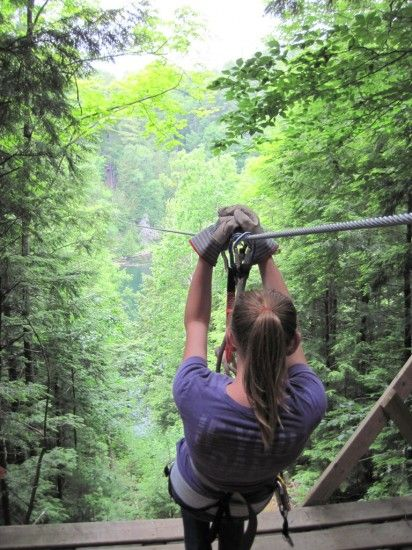 Zip lining in Canada's Outaouais Region