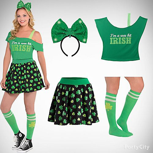 fc0babdb Party Look On St. Patrick Day For Teens #Saintpatricksday  #Saintpatricksdayoutfits #Outfits