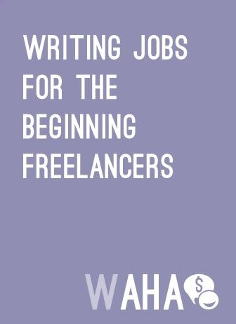 Writing Jobs for freelancers