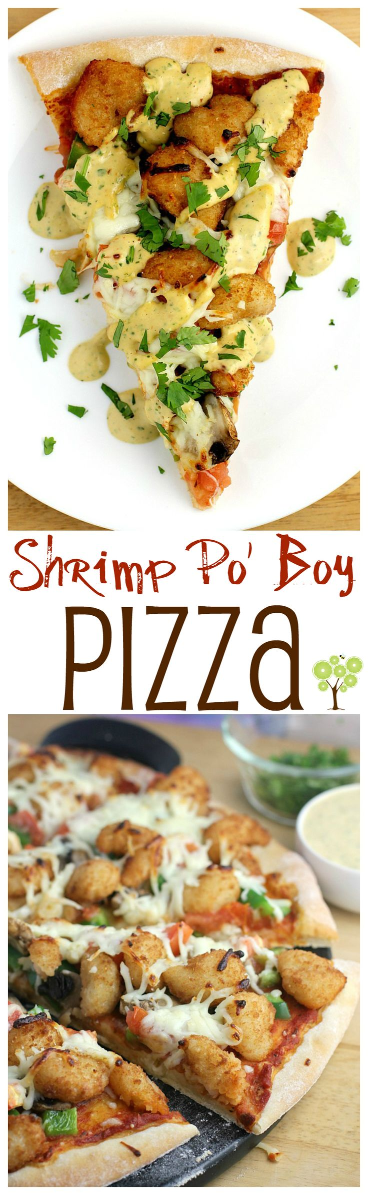 Shrimp Po' Boy Pizza from EricasRecipes.com #ad #ShrimpItUp
