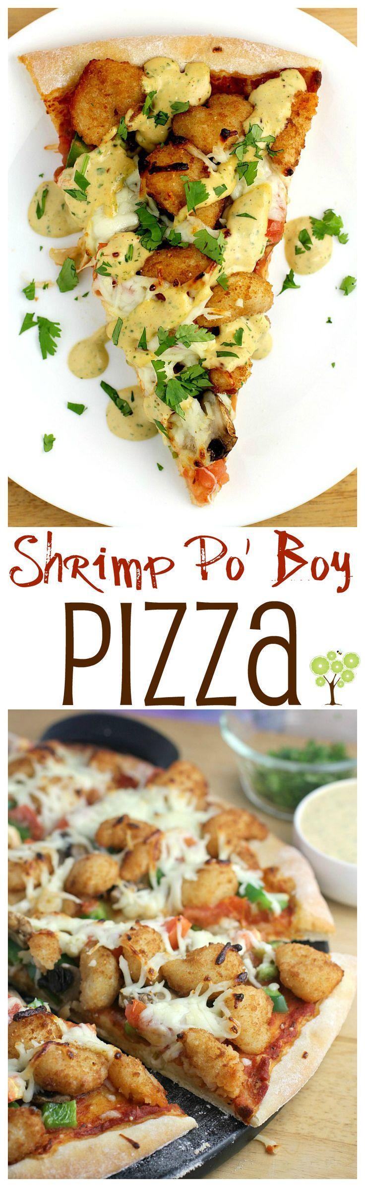 Shrimp Po' Boy Pizza from EricasRecipes.com #ad #ShrimpItUp