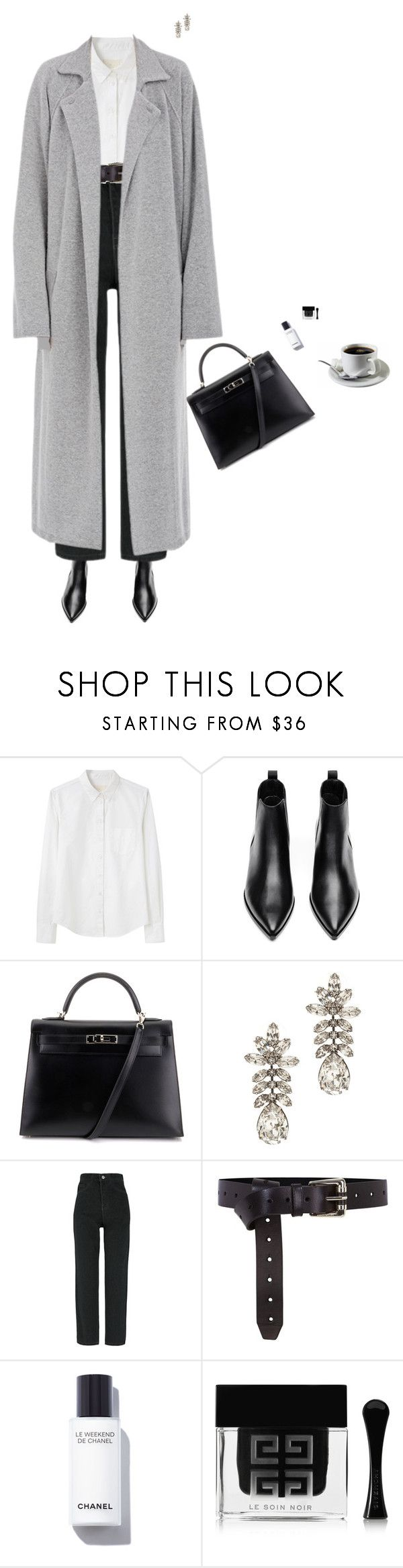 """""""classic style"""" by djulia-tarasova ❤ liked on Polyvore featuring Band of Outsiders, Acne Studios, Hermès, Tom Binns, Karen Millen, Chanel and Givenchy"""