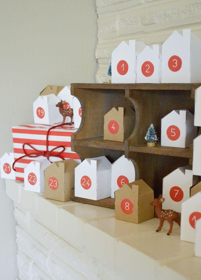 Handmade Christmas: Little Village Advent Calendar - Free PDF Printable of the houses.