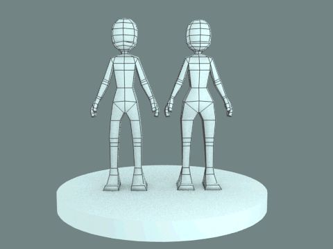 Low Poly Character Turn Table by JohnBuhr