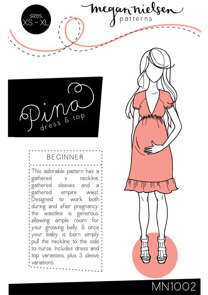 Megan Nielsen Pina dress & top sewing pattern // http://megannielsen.com/collections/sewing-patterns/products/pina-dress-top-sewing-pattern // $20