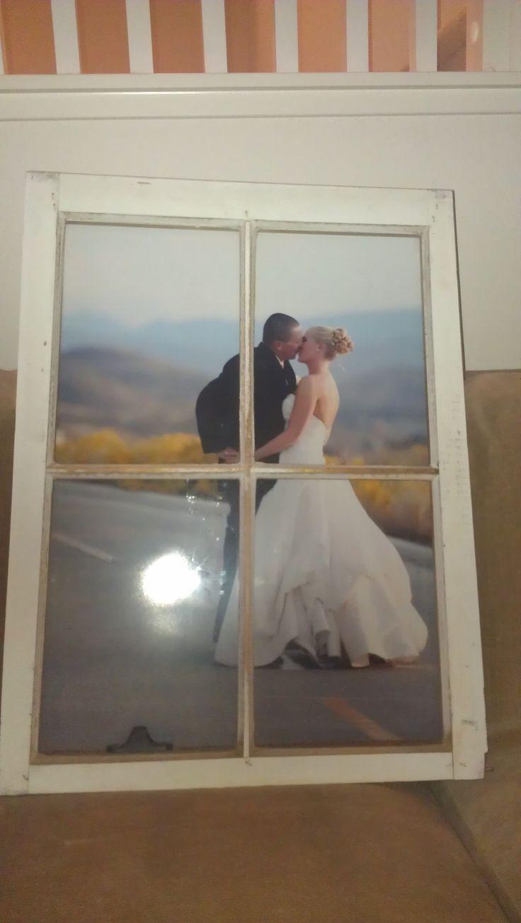 DIY Window Pane Frames - 1 Year Anniversary Gift for the Hubby