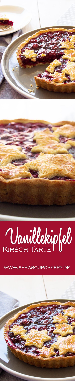 Christmas in July: Vanillekipfel-Kirsch Tarte