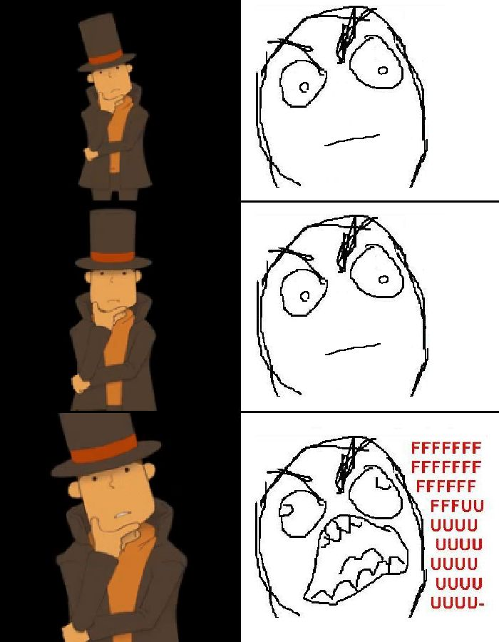 Professor Layton: when you realize you failed a puzzle