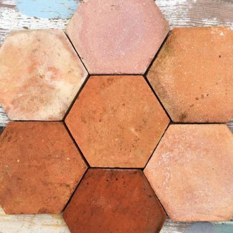Reclaimed Large Hexagonal Terracotta