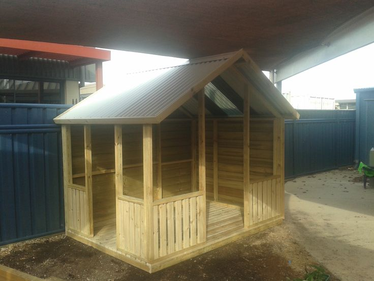 """""""Shelter"""" open shell cubby house"""