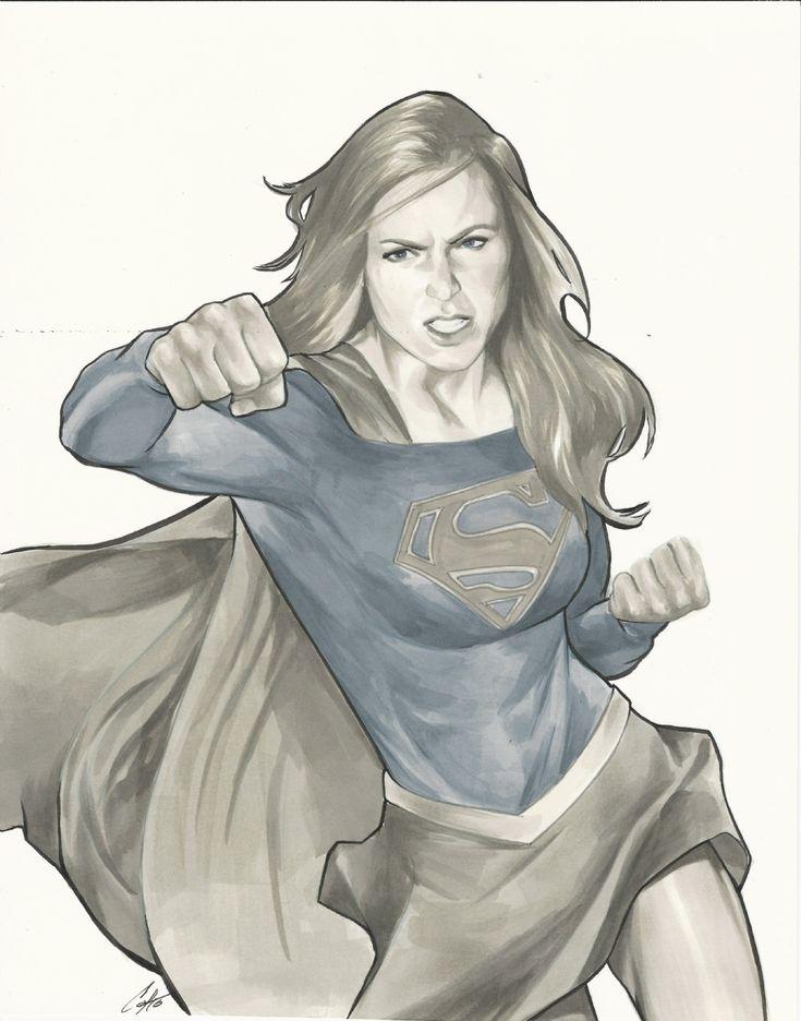Adventures of Supergirl 2 Comic Art Cat Staggs