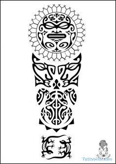 Polynesian Tattoo Drawings | Tattoo Arm Polynesian
