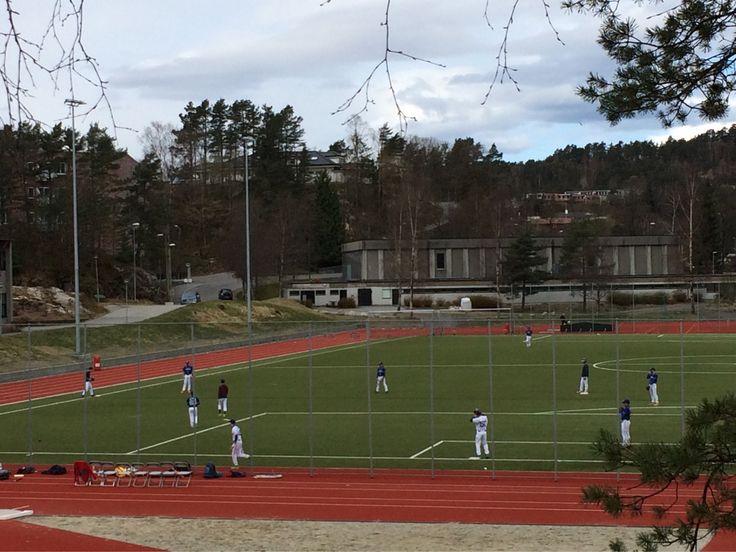 #Norway #Baseball on a #SoccerField