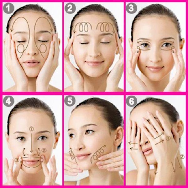 các bước xoa bóp da mặt