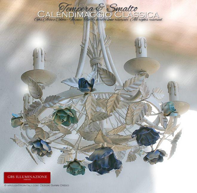 Romantic Bedroom, white wrought iron chandelier