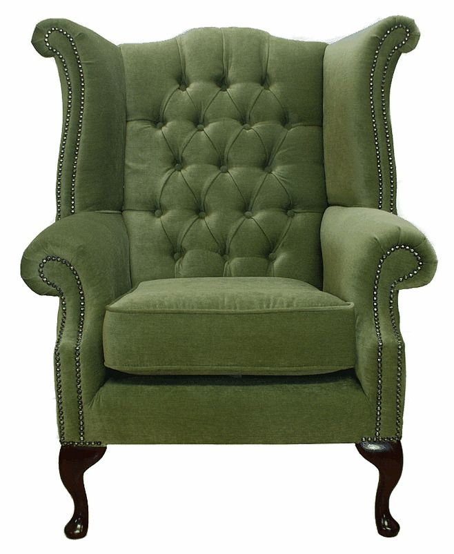 Details About Chesterfield Armchair Queen Anne High Back Fireside