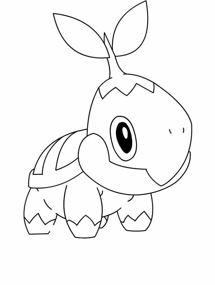 pokemon coloring pages turtwig - photo#3