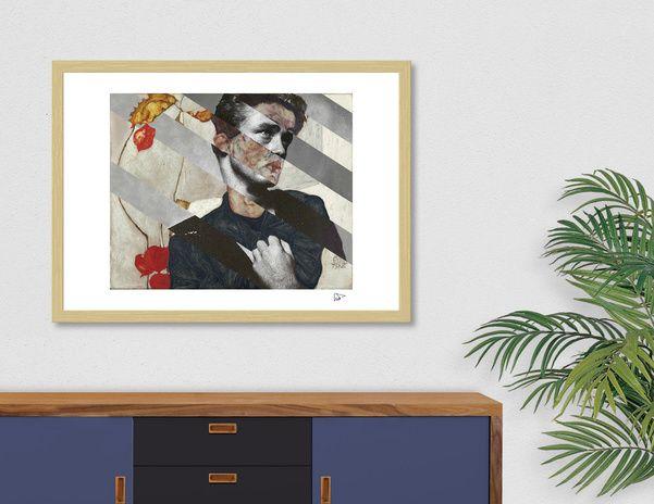 Discover «Egon Schiele's Self Portrait & James Dean», Exclusive Edition Fine Art Print by Luigi Tarini - From $25 - Curioos