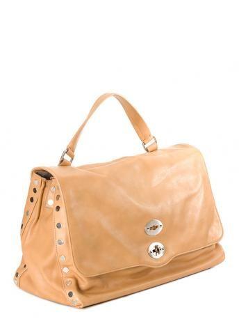 Top Handle Handbag On Sale, Postina S, Sand, Fabric, 2017, one size Zanellato
