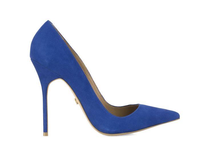 Niebieskie czółenka 24589-16273-03-10 z kolekcji 2014 - sklep internetowy Kazar