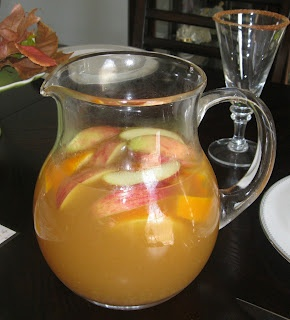 Harvest Sangria. So I didn't make this, my mom did for Thanksgiving. But I had to repost because it is outstanding. So very yummy and seasonally perfect!