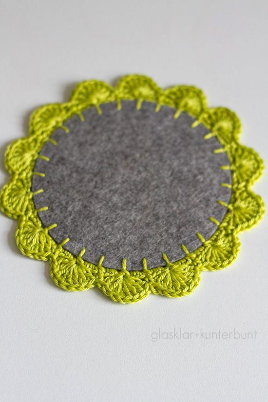 coaster tutorial, crochet. click for english - glasklar & kunterbunt