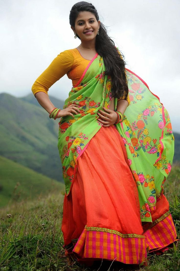 Slicypics Indian Actress Tamanna Bhatia Photos: Anjali Half Saree Hot Photos, South Indian Actress Anjali