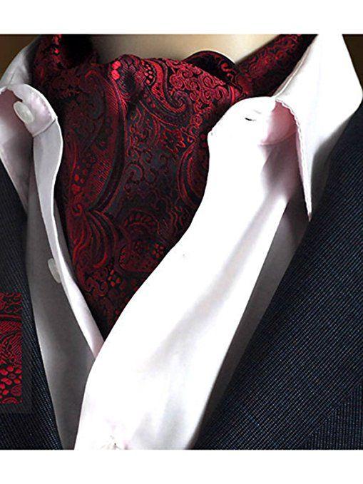 JP Flyer メンズ アスコットタイ ポリエステル糸 ワイシャツ襟巾 ビジネス フォーマル パーティ 紳士 結婚式 おしゃれ スカーフ タイ 両面使えるリバーシブル仕様 全19色   (08)