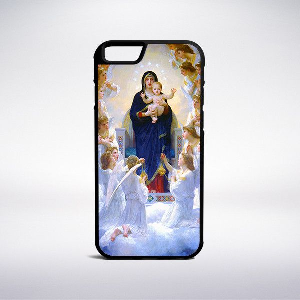 William-Adolphe Bouguereau - The Virgin With Angels Phone Case
