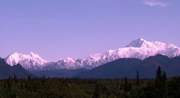 The best place to enjoy views of the mountain and the other peaks in the Alaskan range is in Denali State Park, along the George Parks Highway at mile 135.2.