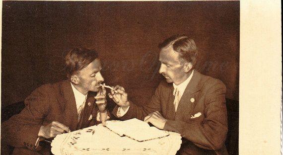 Vintage Photo  Smokers  Vintage Snapshot  Polish by MirrorsOfTime