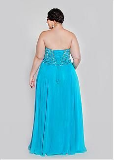 Fabulous Chiffon Sweetheart Neckline Floor-length A-line Plus Size Prom Dress
