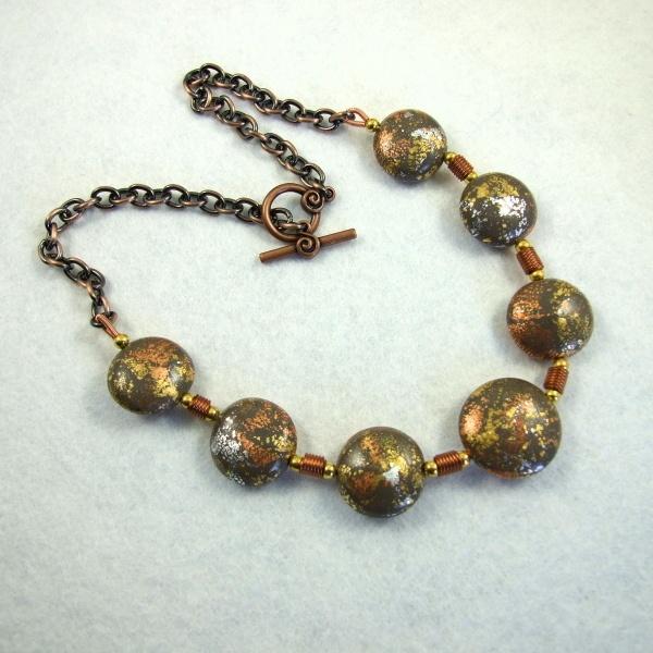 Gorgeous metallic clay beads