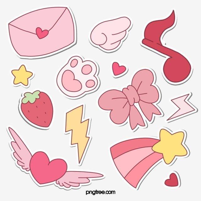 Cute Cartoon Sticker Png And Psd Cartoon Stickers Print Stickers Cute Stickers