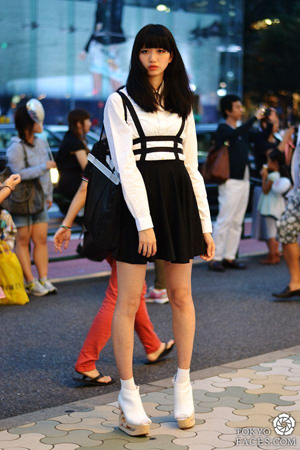 Name: Alice  Shirt: H&M  Skirt: Random Shop in Hajajuku  Shoes: Jeffrey Campbell  Bag: Junko Shimada