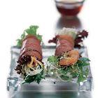 Thaise sla wraps met mihoen, rosbief en garnalen
