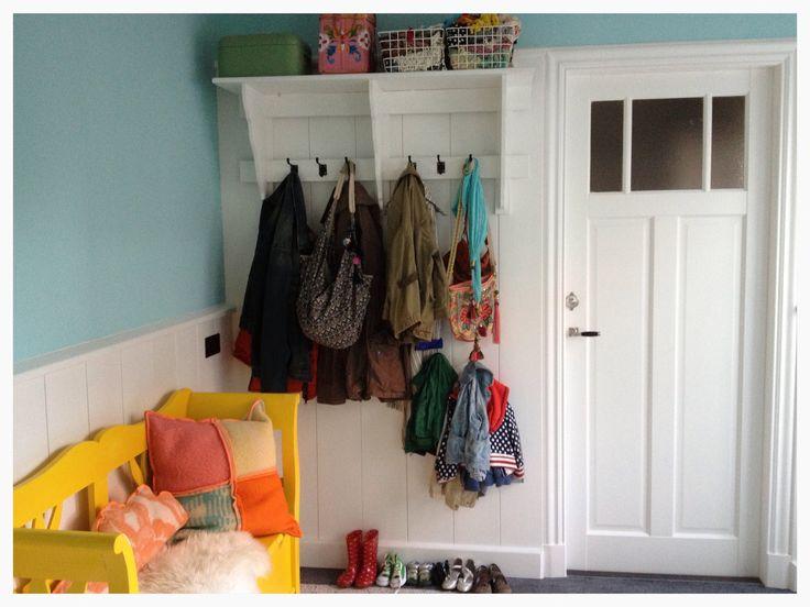 Hallway-wardrobe-old yellow bench#Marije Zijderlaan-Daanen