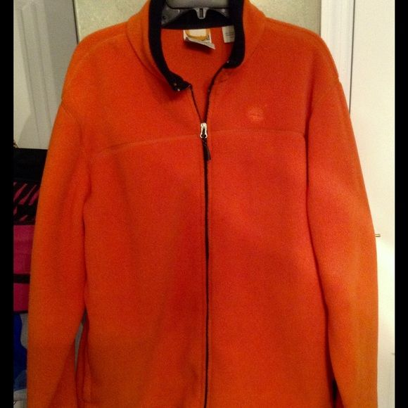 Timberland jacket Orange fleece. Size xl. Excellent condition Timberland Jackets & Coats Puffers
