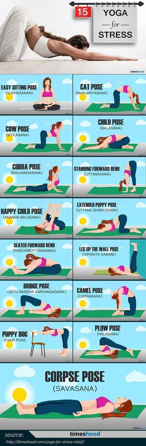Yoga for Stress Relief: 15 Easy To Do Yoga Pose for Instant Relaxation