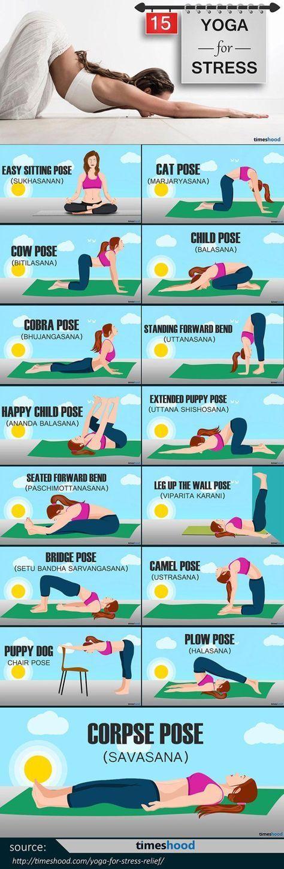 Yoga für Stressabbau: 15 einfach zu tun Yoga-Haltung für sofortige Entspannung… – Alles für Frauen
