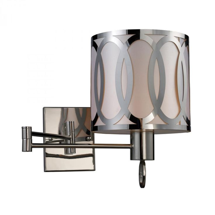 Sterling Lighting Anastasia Swing Arm Sconce In Polished Nickel