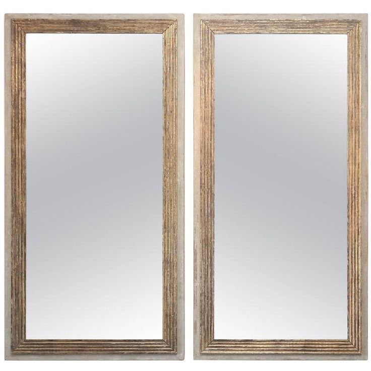 Pair of Large Contemporary Mirrors Made from 18th Century Reeded Fragment S For Sale at 1stdibs