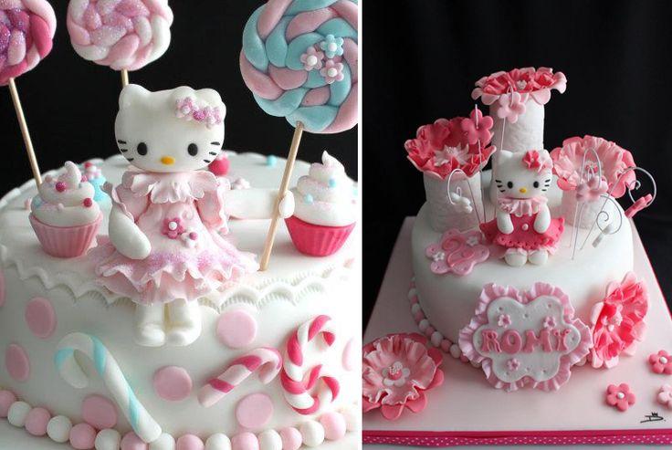 G teau anniversaire fille pate sucre pinterest chats et hello kitty for Comgateau d anniversaire fille original