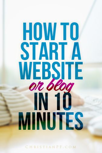 How to Start a Blog (or Website) in 10 Minutes   http://christianpf.com/how-to-start-a-blog/...It's a funny thing being a veteran blogger - I get asked almost daily how to start a website.  I honestly love helping people get started and am truly fascinated at the potential that is available to each an every one of us via a simple little website/blog.  In a lot of ways the playing field has been leveled with big media companies and bloggers.  You and I now have the ability to reach just as…