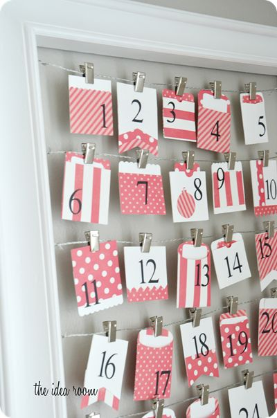 Cute list of items to put in your advent calendar that don't involve candy