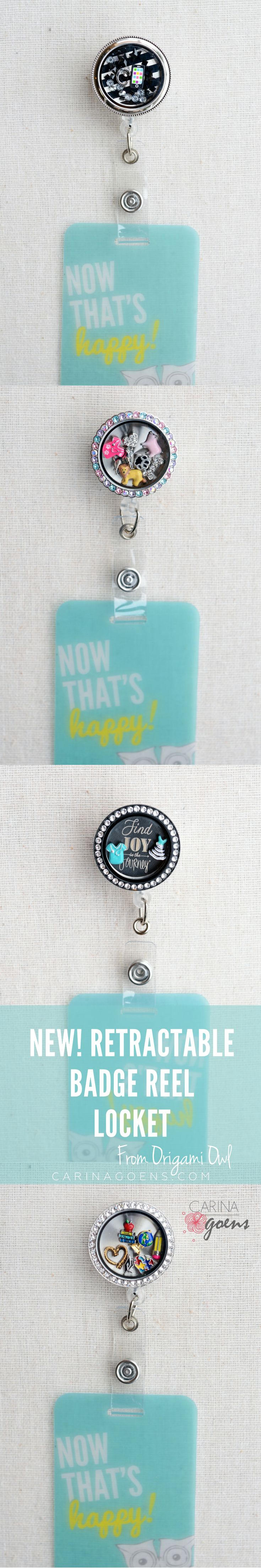 A cornucopia of choices....  Discover the new retractable badge reel locket from Origami Owl. Go to work in style for heaven sake.  @ carinagoens.com