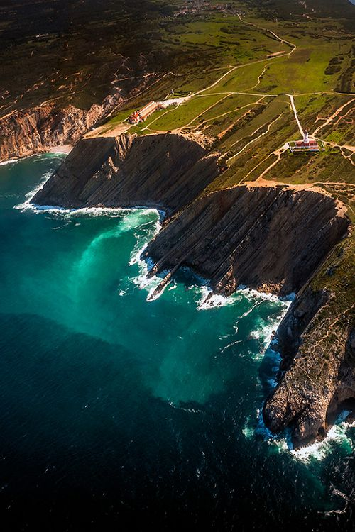 Cabo Espichel, cliffs in a beatiful atlantic coastline in Portugal