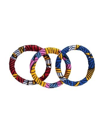 Maria McCloy African Print Bangles 3 Pack