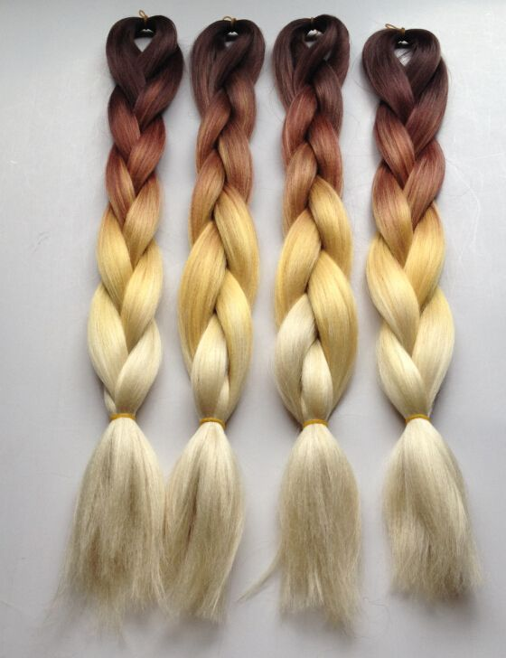 brown to blond(613) ombre box hair braids